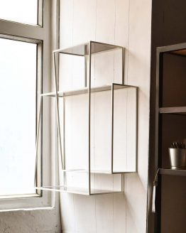 White Steel shelf custom furniture