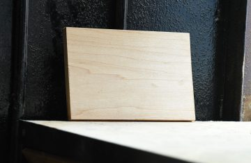Swatch of Hard Maple wood used for custom furniture