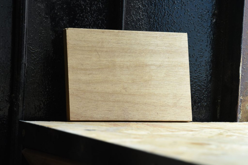Swatch of Taurai wood used for custom furniture