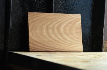 Swatch of White Ash wood used for custom furniture