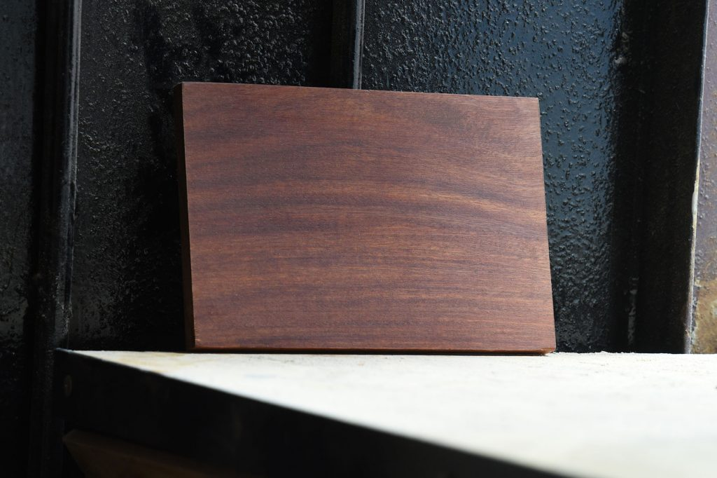 Swatch of Balsamo wood used for custom furniture