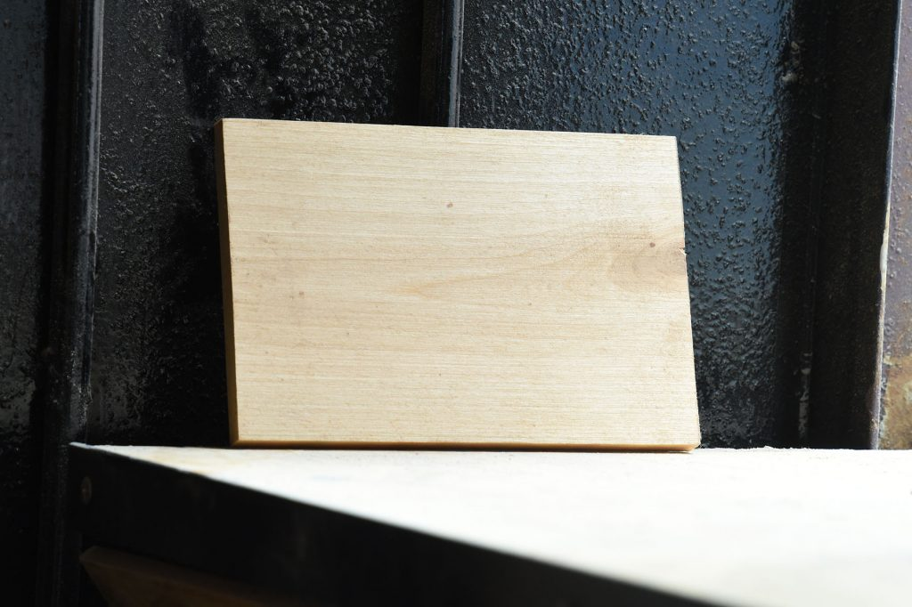 Swatch of Birch wood used for custom furniture