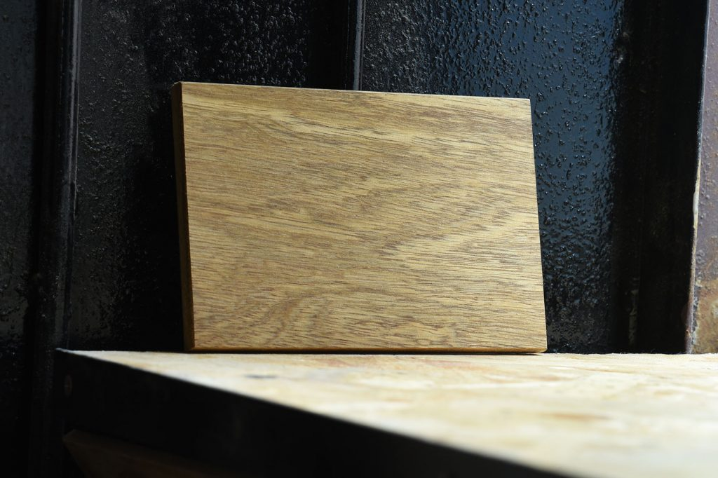 Swatch of Terminalia wood used for custom furniture