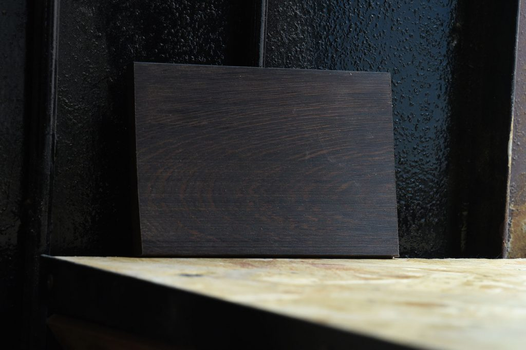Swatch of Wenge wood used for custom furniture