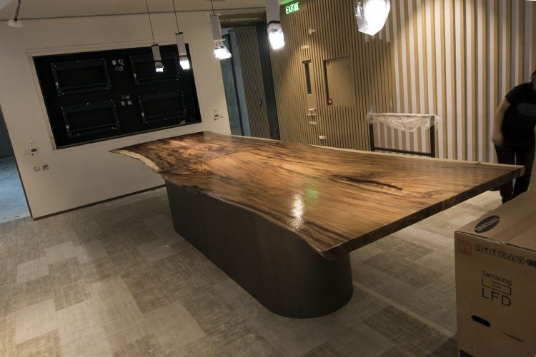 Custom slab table furniture