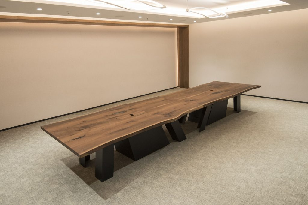 Custom Conference Table with Cable Cap