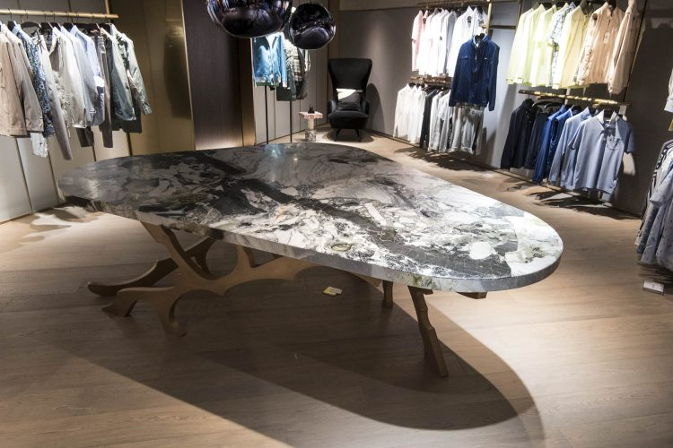 Custom Furniture Marble and Brass