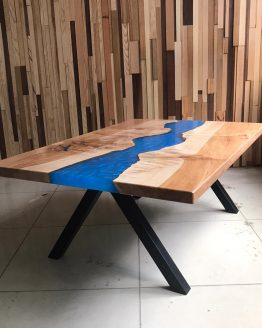 CUSTOM furniture slab maui blue river coffee table