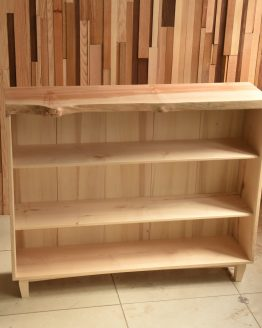 custom live edge bookcase
