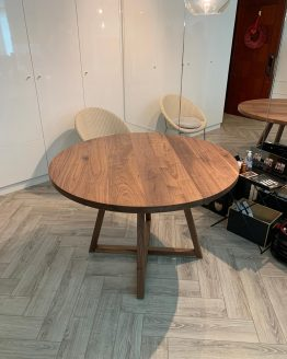 Black Walnut Round Dining Table