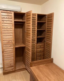 louvered wardrobe