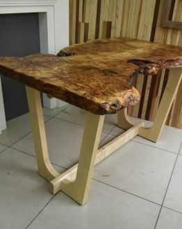 custom maple burl table