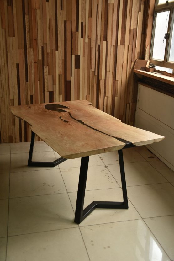 pacific maple slab table