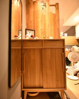 custom designed shoe cabinet solid wood