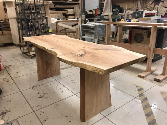 Natural slab table