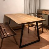 ash live edge dining table