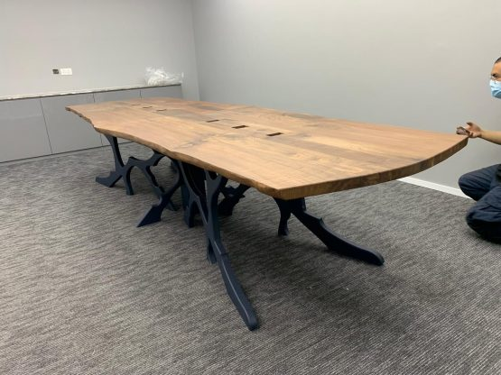 Live Edge Slab Conference Table